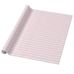 Light Pink and White Medium Chevron Wrapping Paper