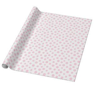 Light Pink Dots on White Wrapping Paper
