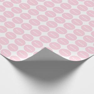 Light Pink Dots Pattern On White With Name Wrapping Paper