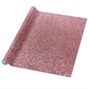 Light pink glitter wrapping paper