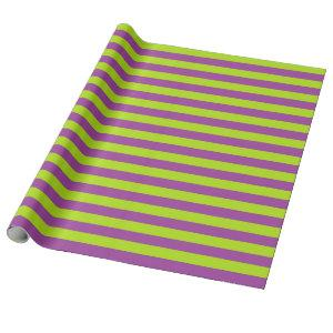 Lime Green and Purple Stripes