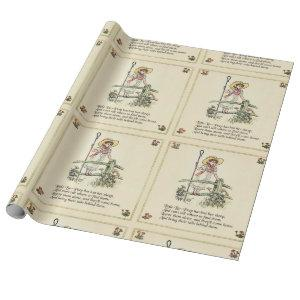 Little Bo Peep art print drawing illustration Wrapping Paper