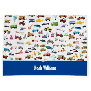 Little Boy Things That Move Vehicle Cars Kid Large Gift Bag