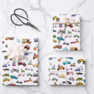 Little Boy Things That Move Vehicle Cars Kid  Sheets