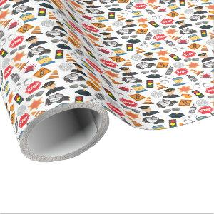 Little Boys Police Officer Pattern Kids Wrapping Paper