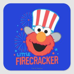 Little Firecracker Elmo Square Sticker