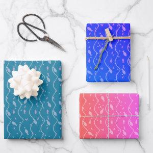 Little Fishes Wrapping Paper Sheets
