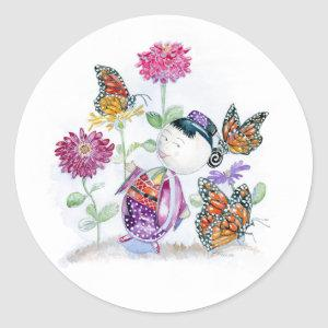 """""""Little Moon and the Monarchs"""" Sticker"""