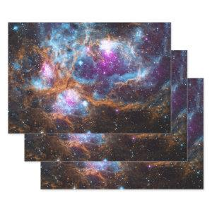 Lobster Nebula - Cosmic Winter Wonderland Wrapping Paper Sheets