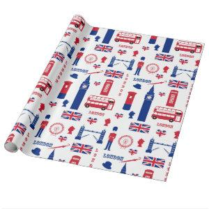 London England British chic Wrapping Paper