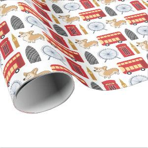 London Icon Collage Wrapping Paper