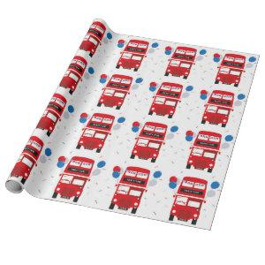 London Red Bus Wrapping Paper