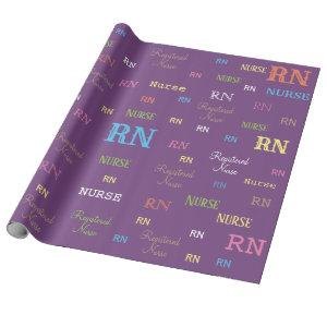 Look!! RN (REGISTERED NURSE) wrapping paper