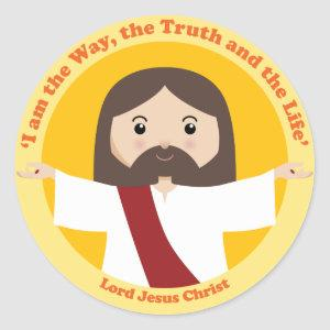 Lord Jesus Christ Classic Round Sticker