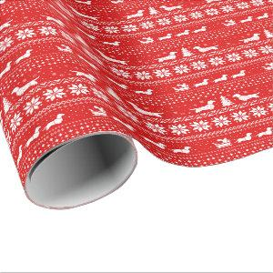 Love Joy Peace Wiener Dogs Christmas Dachshunds Wrapping Paper
