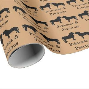 Love My Two Mastiffs Wrapping Paper