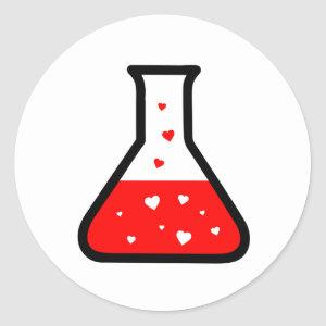 Love Potion (Science) Classic Round Sticker