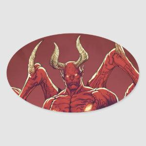 Lucifer the Devil, the Prince of Darkness, Satan Oval Sticker