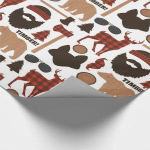 Lumberjack Pattern Wrapping Paper