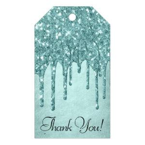 Luxurious Drip Thank You | Glitter Pour Script Gift Tags