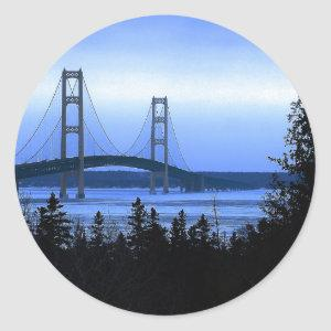 Mackinac Bridge Classic Round Sticker