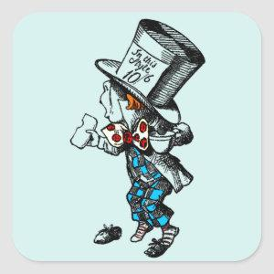 Mad Hatter With Tea Cup Stickers