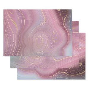 Magenta Glam Strata   Gorgeous Pink and Gold Agate  Sheets
