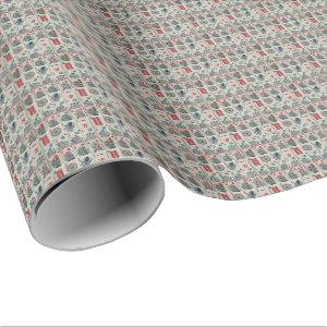 Mahjong Tiles Pattern Wrapping Paper