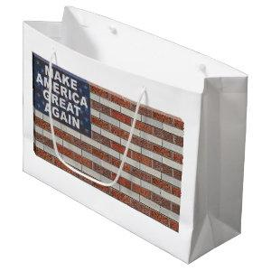 Make America Great Again Brick Flag Large Gift Bag