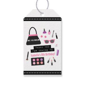 Makeup Fashion Show Birthday Party Gift Tags