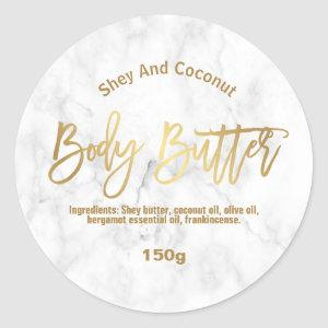 Marble And Gold Body Butter Labels