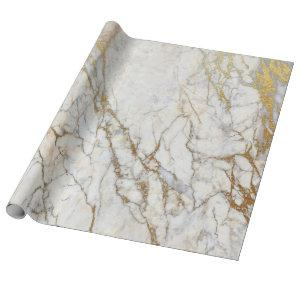 Marble and Gold Gift Wrapping Paper