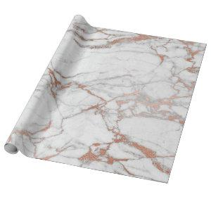 Marble and Rose Gold Gift Wrapping Paper