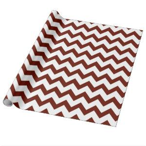 Maroon and White Chevron Pattern Wrapping Paper