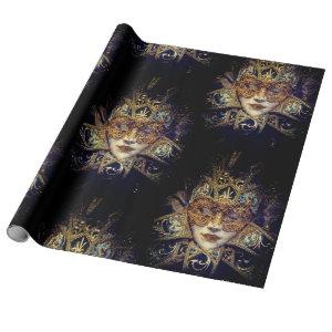 Masquerade mask Victorian elegant gothic Wrapping Paper