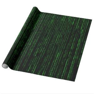 Matrix code wrapping paper