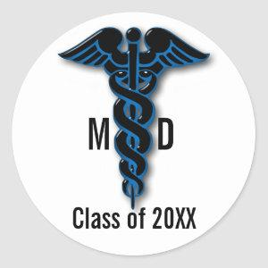 Medical School Graduation Classic Round Sticker