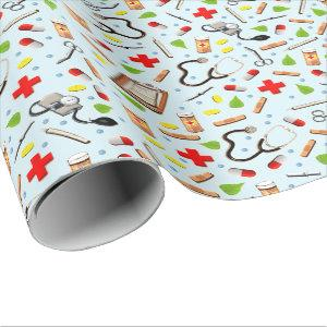 medical school graduation wrapping paper