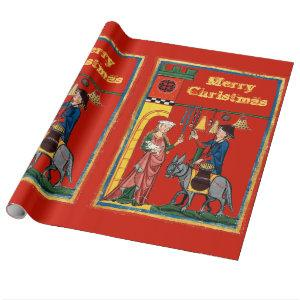Medieval Christmas Wrapping Paper