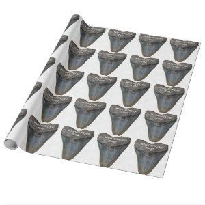 Megalodon Shark Tooth Wrapping Paper