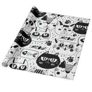 Meow Cat Wrapping Paper
