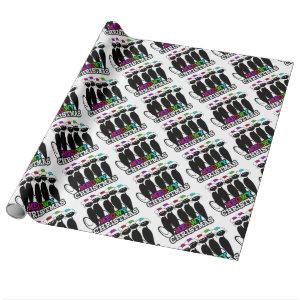 Meowy Christmas Kitty Cats Wrapping Paper