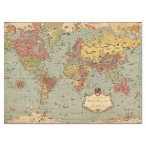 Mercator Map of the World  Tissue Paper