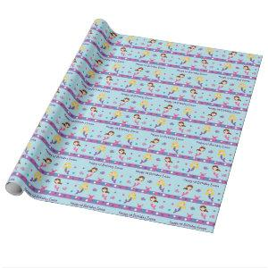 Mermaid Birthday Wrapping Paper