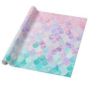Mermaid Pattern Birthday Gift Wrapping Paper