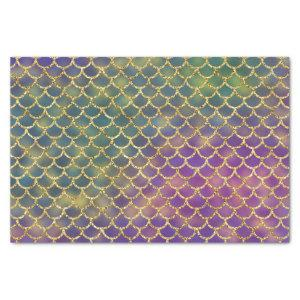 Mermaid scales gold puple green tissue paper