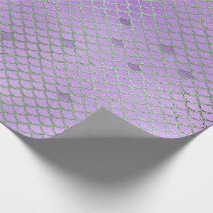 Mermaid Scales Pattern Purple Under the Sea Wrapping Paper