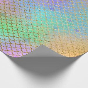 Mermaid Scales Pearlescent Rainbow Under the Sea Wrapping Paper