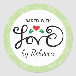 Merry and Bright baked with love stickers
