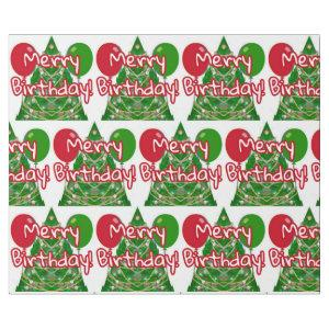 Merry Birthday Wrapping Paper